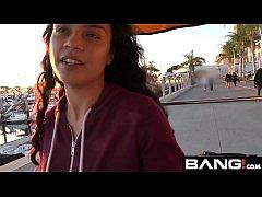 Maya Bijou Petite Latin Teen Flashes Tits In Pu...