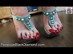 Penelope Black Diamond Footlick  Footjob Blowjo...