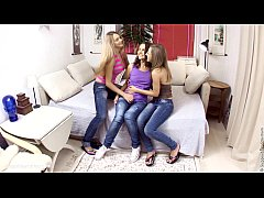 Excited Threesome by Sapphic Erotica - sensual lesbian sex scene with Misha and