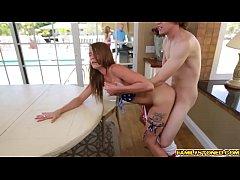 Ryan is pounding Kristen Lees pussy so hard