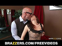 Firery redhead Ashley Graham gets a lesson in d...