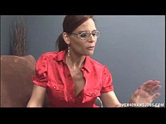 Naghty Milf With Glasses Jerking