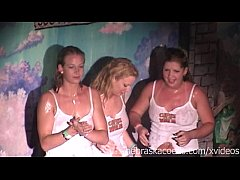 ggw wet t shirt contest at spring break bar teq...