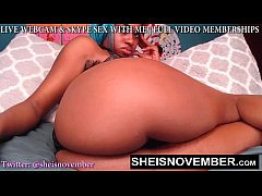 BIG BOOTY WEBCAM MODEL SLUT MSNOVEMBER POUNDING...