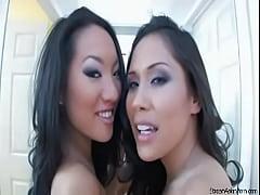 Asa Akira and Jessica Bangkok - Hot Threesome