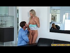 Step dad cock stuffed on Emma Hixs mouth and sh...