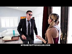 MyBabySittersClub - Obsessed BabySitter Gets CreamPied