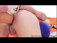 Sweety blonde chick Holly takes a big cock in h...