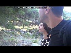 Amateur oral sex on a romantic picnic scene 1