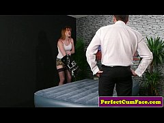 British ginger cocksucking and giving wankjob