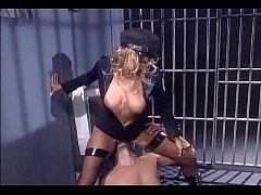 Female in uniform and fishnet stockings fucking