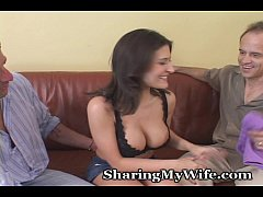 Hot Brunette Convinces Hubby That She Needs Som...