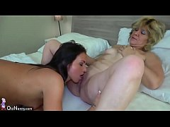 OldNanny Teen girl and old mature lesbian.720p ...