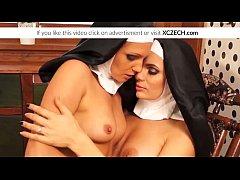 Catholic nuns enjoying lesbian sex