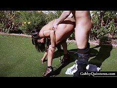 cheating latina gabby quinteros caught fucking lawn guy