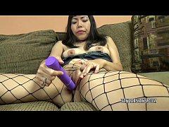 Asian hottie Yuka Ozaki uses a dildo to make he...
