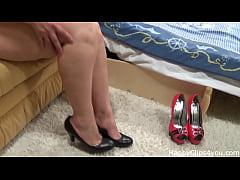 High heels test shoe fetish