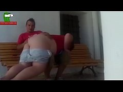 A fat woman, a cucumber and a sex scene on the street. SAN044