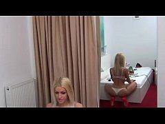 BigTits Blonde Lingerie  erotic maturbation 18 ...