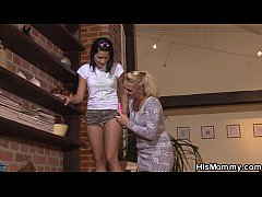 Hot czech mom and teen lesbian action