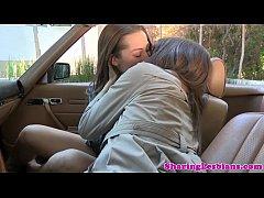 Real lesbian lovemaking in cool HD