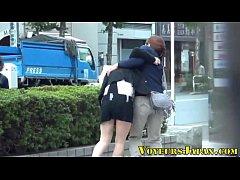 Japanese teens peeing