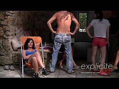 French teen Mademoiselle Lilith fucked hard, sc...