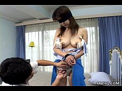 Asian teen fucked by her brother blindfolded