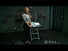 BDSM XXX Slave girl with massive breasts gets i...