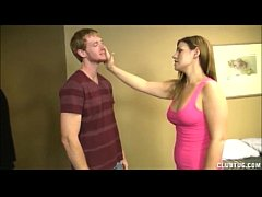 Big-Titted Teen Jerks Off A Big Dick