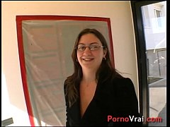 She gets fucked in the kitchen by surprise! French amateur