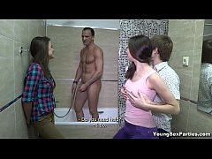 Young Sex Parties - Three-way tube8 gangbang te...