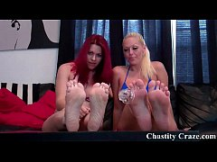Take off your chastity device and lick it clean