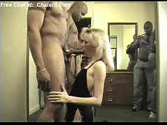 hot wife holly gangbanged and creampied by 4 bl...