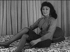 Vintage Brunette Striptease