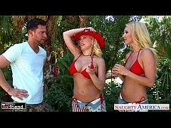Blondes Aaliyah Love and Kagney Linn Karter sha...