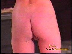 Lovely blonde tart enjoys whipping her busty an...