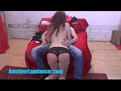 Wonderful 18yo redhead lapdances for teen boy