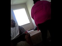 BBW Ghetto Creampie While Her Peeps Wait in The...