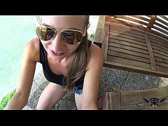 ANALytics with skinny German Amateur Teen Lina Diamond