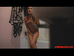 Creep stepbro gets to stick it in Gia Paige pin...