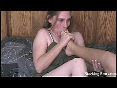 Four roommates having a toe sucking lesbian orgy