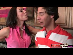Kendra Lust caught teen couple fucking in the kitchen