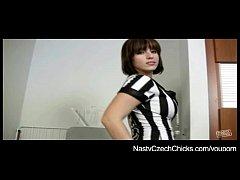 Czech big tits pornstar Ashley Robbins in kinky fingering action