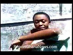 GHANAIAN FEMALE STUDENT VIDEOTAPE HERSELF TAKIN...