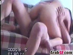 Amateur Arab girlfriend gets fucked hard on the...