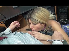 Horny MILF Lavender Rayne is swallowing a stiff...