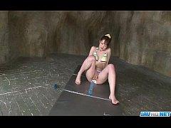 Dashing Japanese modelTomoka Sakurai plays in ...