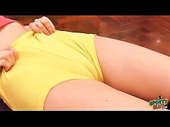 Hot Body Skinny Busty Brunette Has Big Cameltoe...