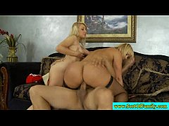 Real stepmom and stepdaughter fuck guy